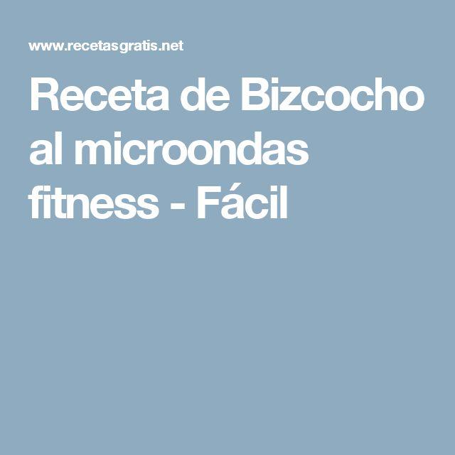 Receta de Bizcocho al microondas fitness - Fácil
