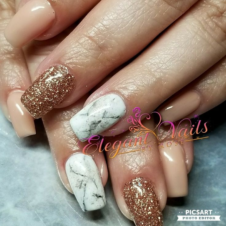 Rose Gold Nail Glitter: Top 25+ Best Rose Gold Glitter Nails Ideas On Pinterest
