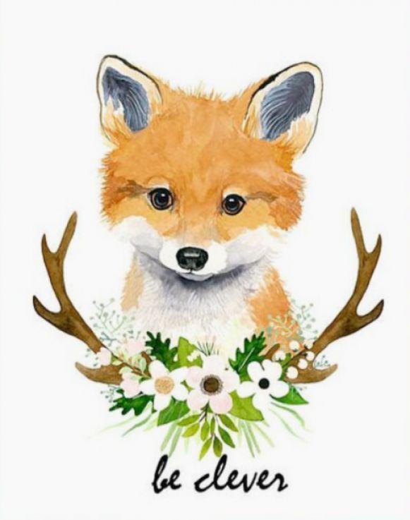 #dessin #renard #fox #roux #clever #mignon #kitten #fleur ...