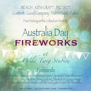 Wild Twig Studios were part of the Australia Day Fireworks celebrations 2015