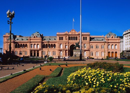 Casa Rosada, Buenos Aires, Argentina. U.S has the White House, Argentina the Rose or Pink House