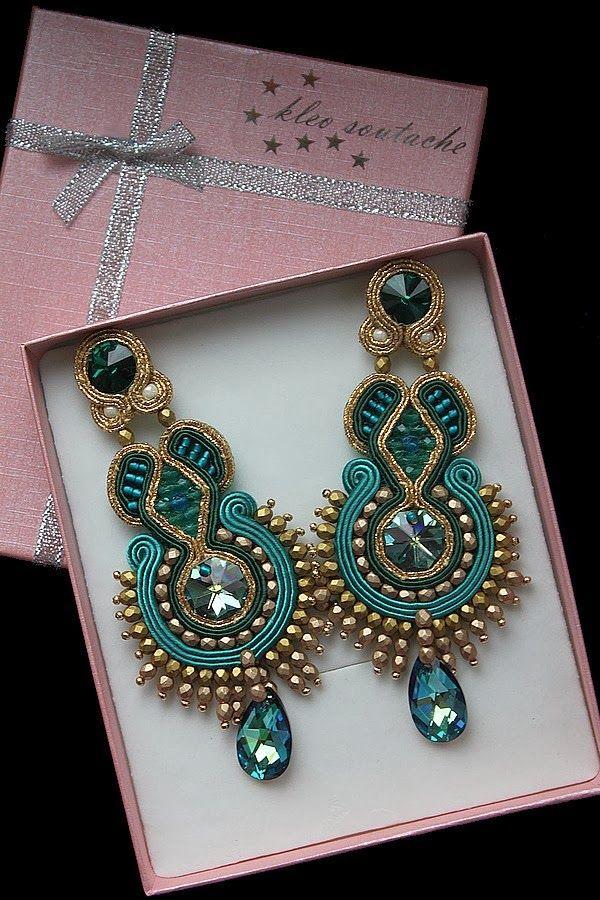 Sutasz Kleo /Soutache jewellery: SAHARA FLOWER