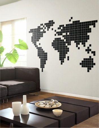 les 25 meilleures id es concernant carte murale du monde sur pinterest mappemonde plans et. Black Bedroom Furniture Sets. Home Design Ideas