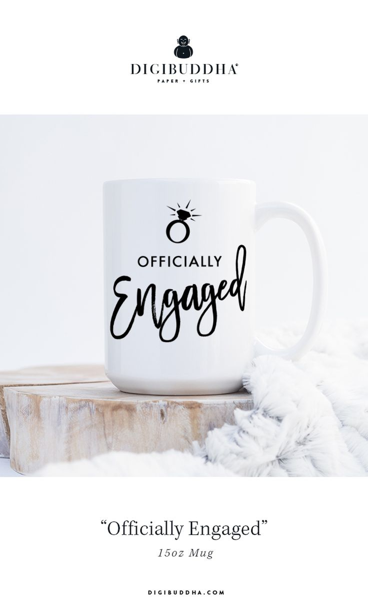 Officially Engaged Mug – Digibuddha Home + Office