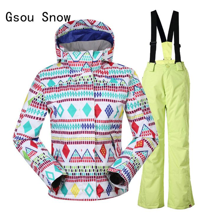 Super Warm Kids Gsou Snow Band Windproof Waterproof Skiing Suit Jacket Pants For Kids Girls Outdoor Sport Wear Thicken Clothing