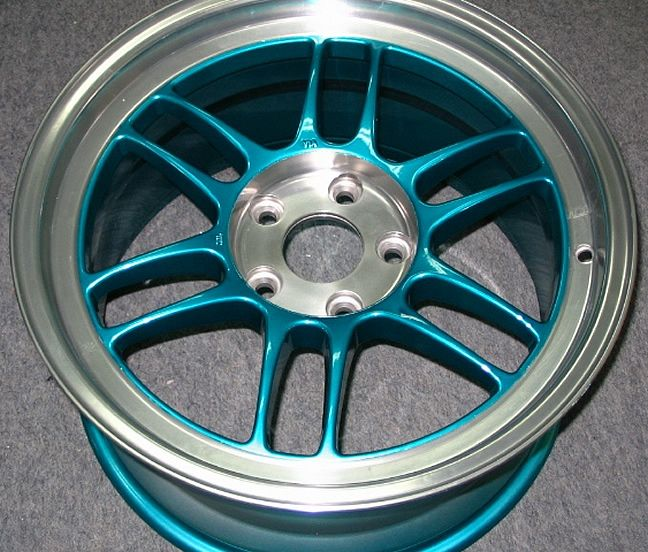 Teal Car Colors | Rims with Polished and Clear Powder Coated Lip & Center w/ Candy Teal ...