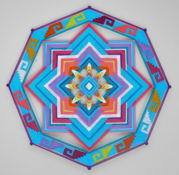 Ancient Wisdom, a 24 inch, Ojo de Dios, by Jay Mohler, in stock