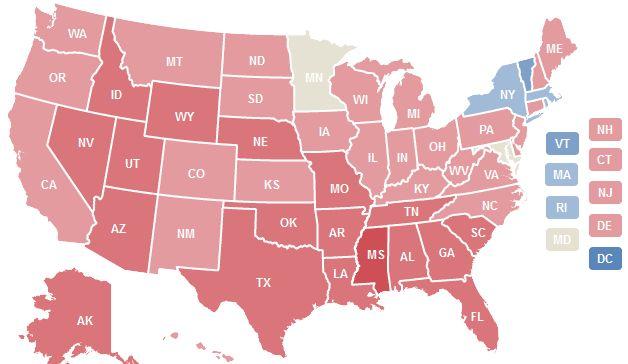 El mapa electoral de EE. UU. según los libros que vende Amazon