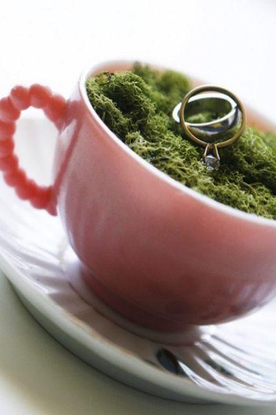 Porte alliances - Tasse de thé avec mousse