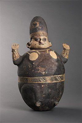 CHANCAY culture Central coast 1200 – 1450 AD Cuchimilco [Female figure] 1200-1450 AD ceramic