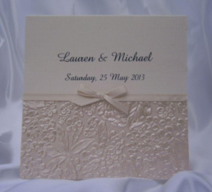 """Audrey"" - Square Wedding Invitations https://www.facebook.com/LuPerlaInvitations"