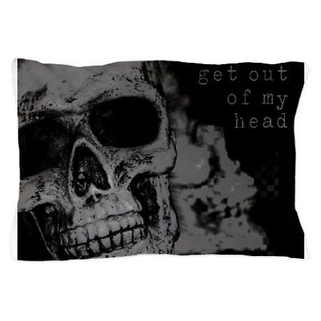 Get Out Of My Head Pillow Case
