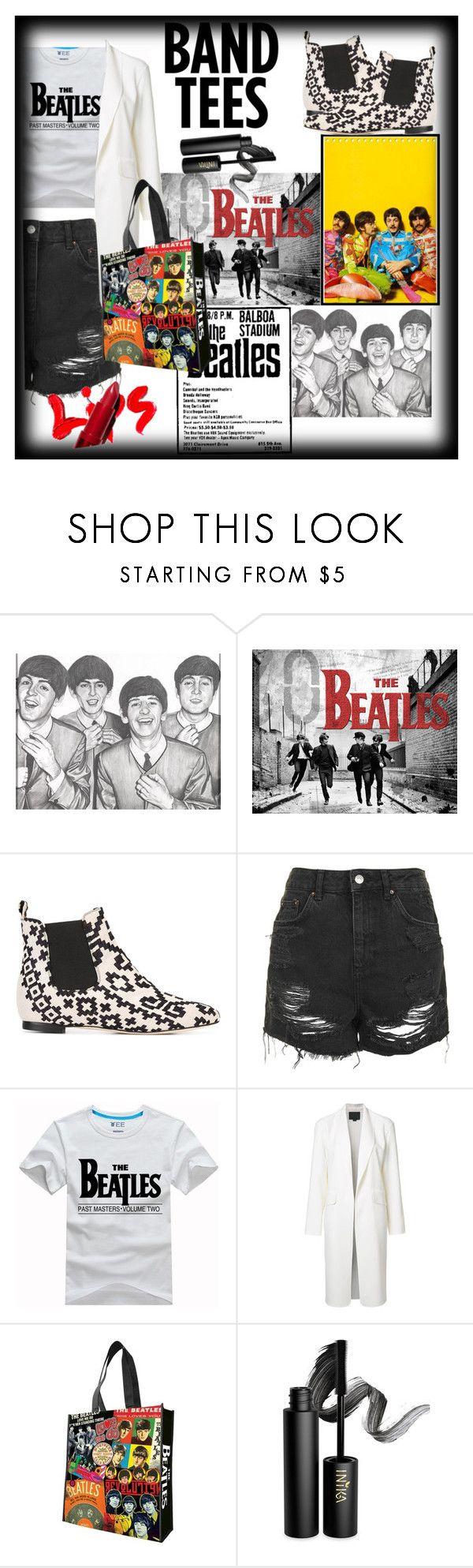 """Beatles: Band tees"" by debbie-riley ❤ liked on Polyvore featuring Bams, Topshop, Alexander Wang, Vandor and INIKA"