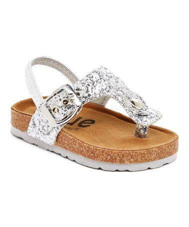 Look what I found on #zulily! Silver Fatia Glitz Sandal #zulilyfinds