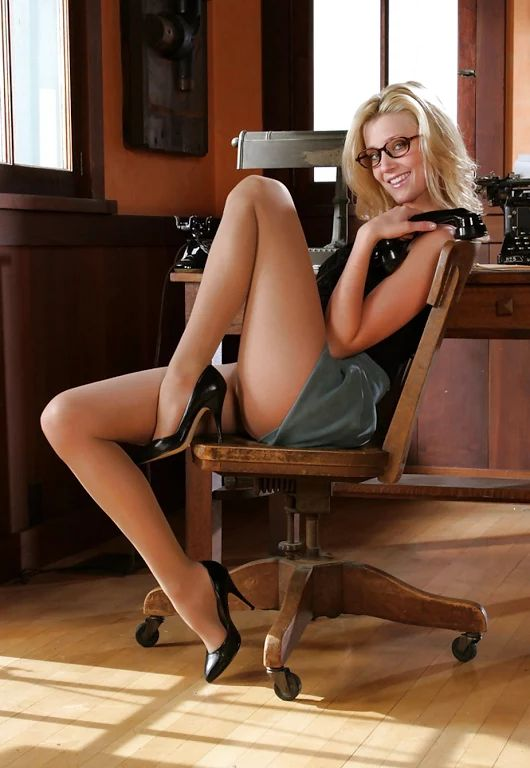 secretary pantyhose Hot