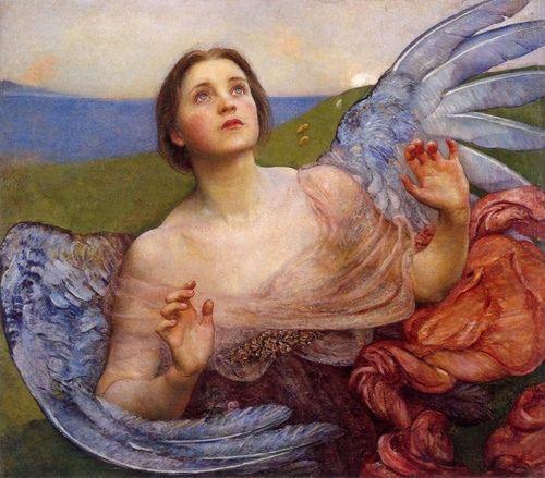 Sense of sight (1895) Annie Louisa Robinson Swynnerton (1844-1933)