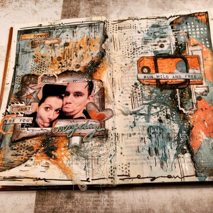 Crazy art journal by Virag Reti
