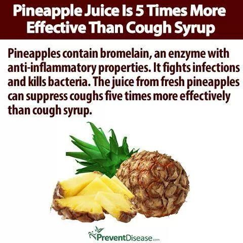 Pineapple juice for coughs