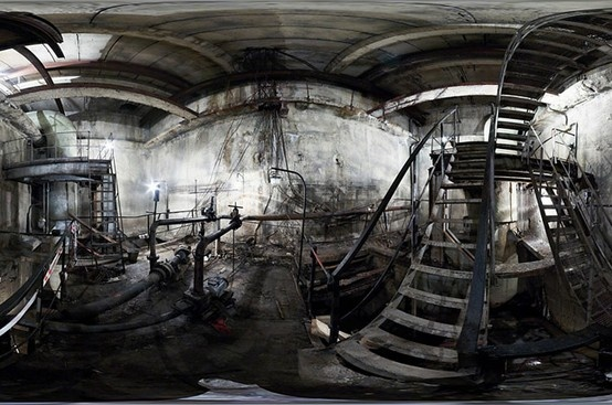 Abandoned subway tunnel, Moscow