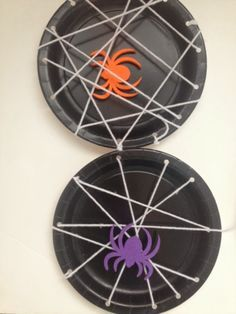 Halloween fine motor spider web activity and craft for kids