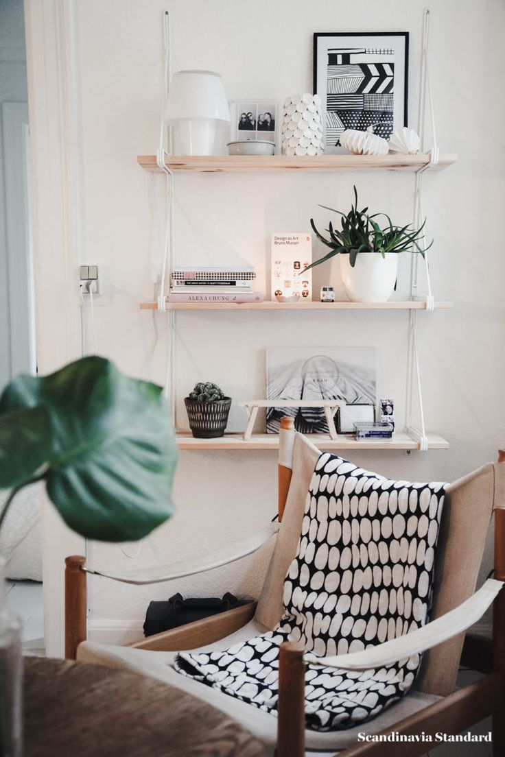 safari chair and bookcase - hygge living
