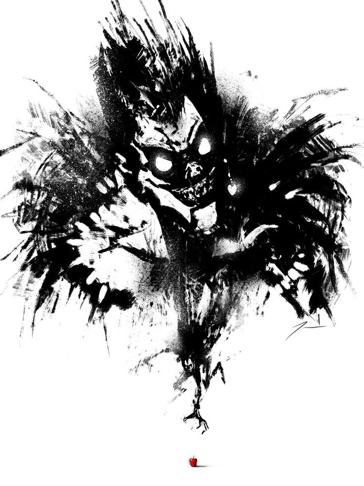 Death Note – Here's a Ryuk painting I made for Omnicon 2014