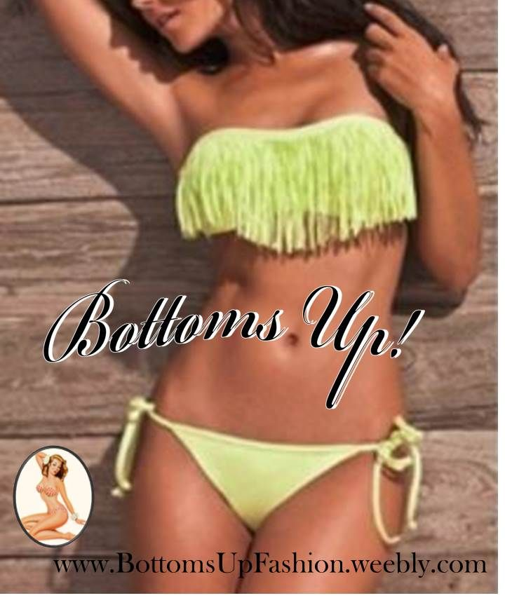 Strapless Tassle Bikini– YELLOW  Order Code: BU1001Y Sizes: S / M / L Email: bottoms-up-@hotmail.com for orders/enquiries
