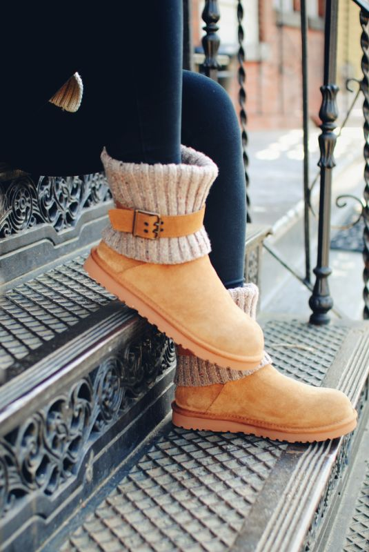UGG Australia's fold-over knit sheepskin boot for women - the #Cambridge  #SteppingintoComfort #Fall