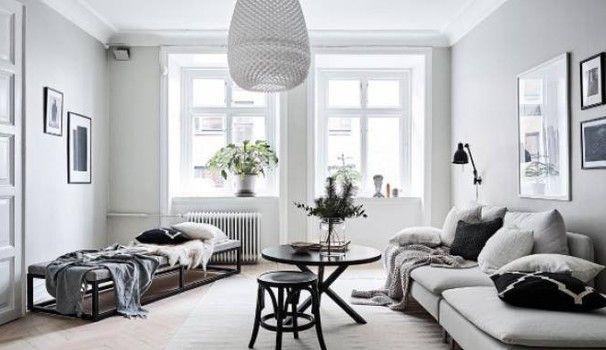 Modernità e audacia di un arredamento in bianco e nero