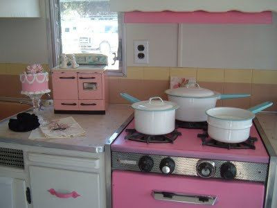 1961 Fireball With Pink Stove