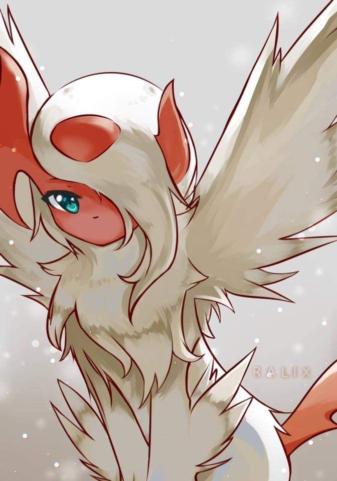 This is my other Absol, Nightfeather. Nightfeather tends to be lonely, but is always accompanied by Abbie, another Absol. I always put them together so they can look after one another. Nightfeather is a Level 15, and I know she wants to become stronger.