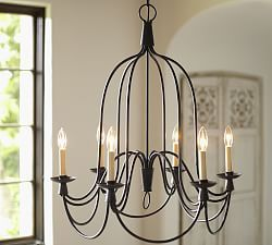{pottery barn Chandeliers, Wrought Iron & Bronze Chandeliers | Pottery Barn