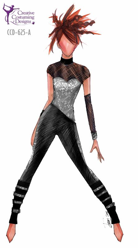 CCD-625-A  DESCRIPTION: one piece tight leg unitard, back is mirror image, zipper back, one cuff, one gauntlet BASE PRICE: $124.50