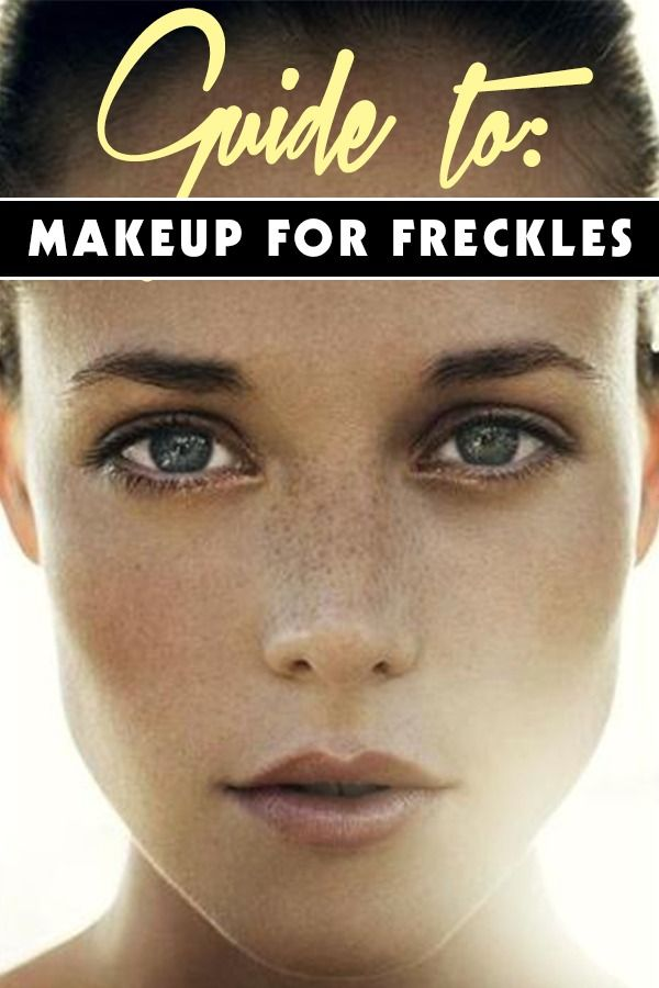 Makeup for Freckles   8 makeup looks that will make those freckles look amazing. You don't always have to hide them. You have to embrace who you are and show them off! #youresopretty
