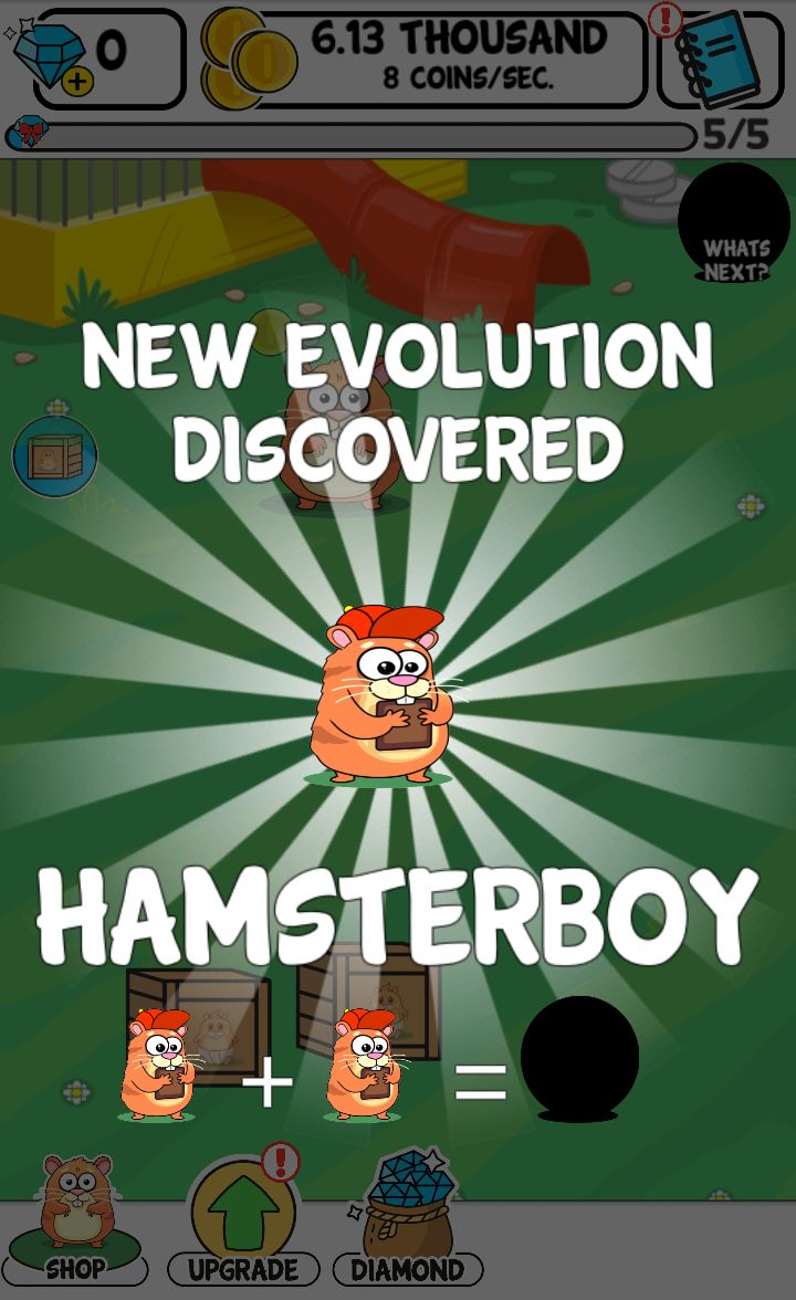 FREE App: Hamster Evolution - fun kawaii game on App Store. See cool transformations and play with a baby hamster evolution, see how it evolves and discover crazy cute animals. Best games for kids!