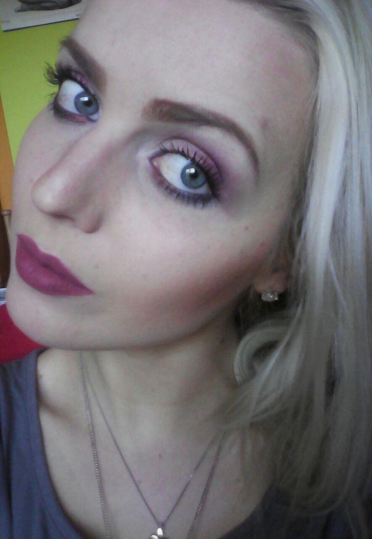 Stylish Blonde: PLUM- Rock Chick make-up! Rockowy makijaż w odcien...