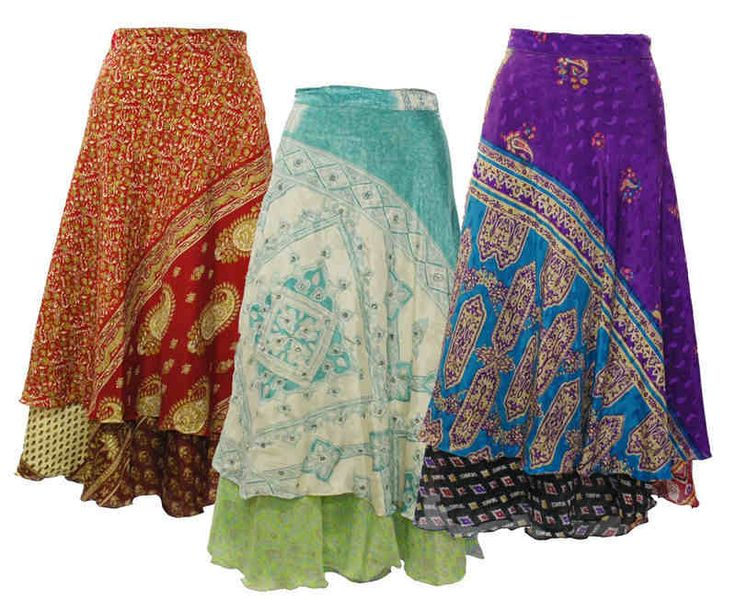 Recycled Saree Long Wrap Around Reversible Skirt This beautiful skirt is the perfect item to keep you looking and feeling cool during the summer This
