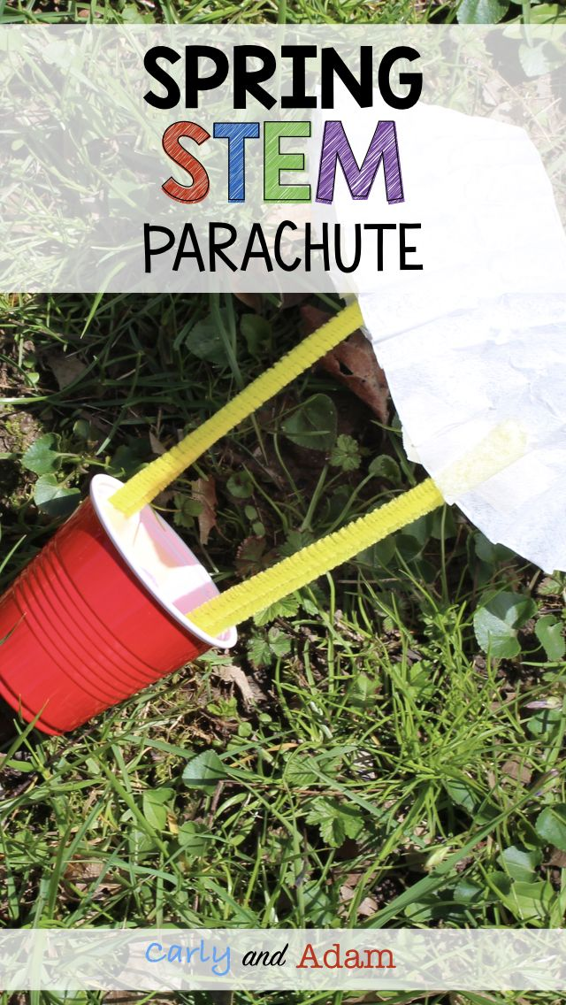 Spring Classroom Activity (Spring STEM Activity): Design a parachute that will slow down the rate at which a cup falls after being dropped!