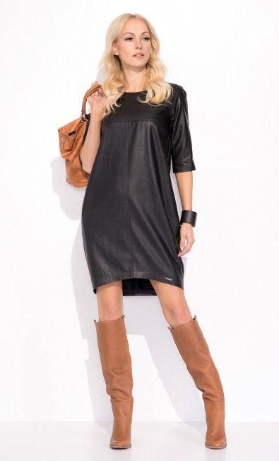 Czarna sukienka TIFFANY ZAP215036 - ZAPS - Sklep Zaps | on-line fashion