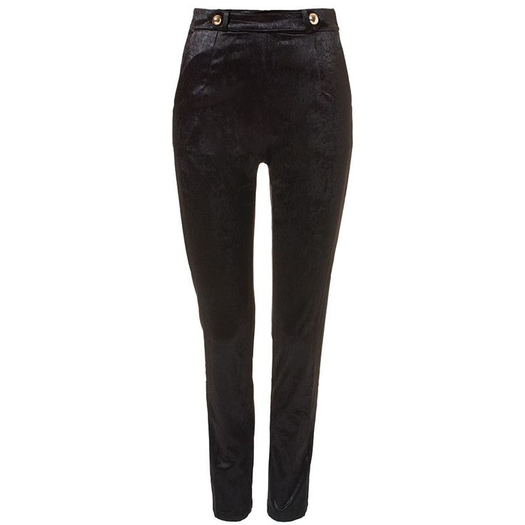 Velvet enkel length pants black