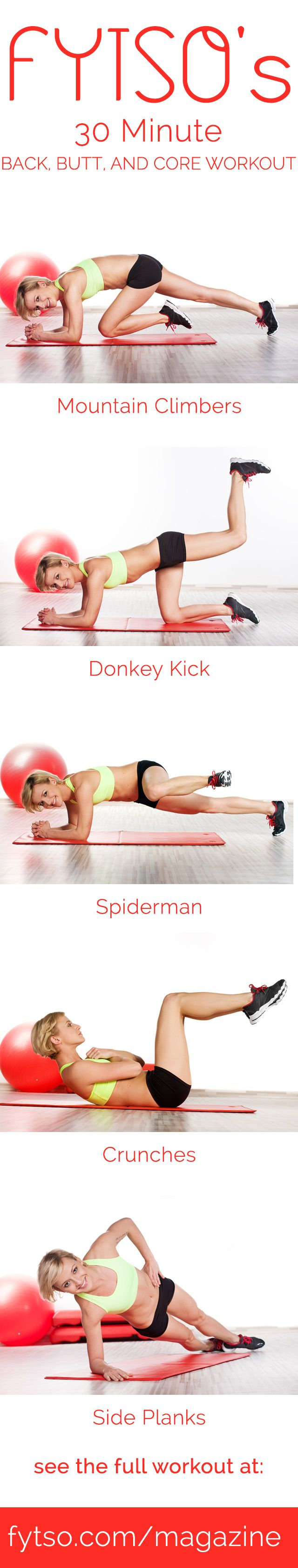 Everyone wants a toned core and buns of steel so it makes sense to dedicate an entire 30 minute workout to those areas.