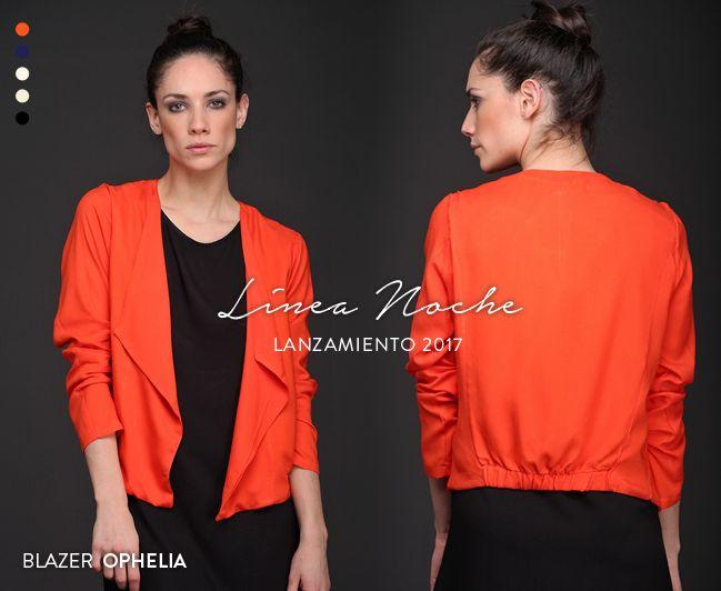 Blazer Ophelia: disponible en 5 colores. Un comodín para tu outfit nocturno. #LíneaNoche #Exclusivo #EdiciónLimitada