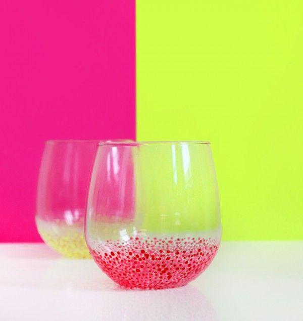 speckled glass DIY