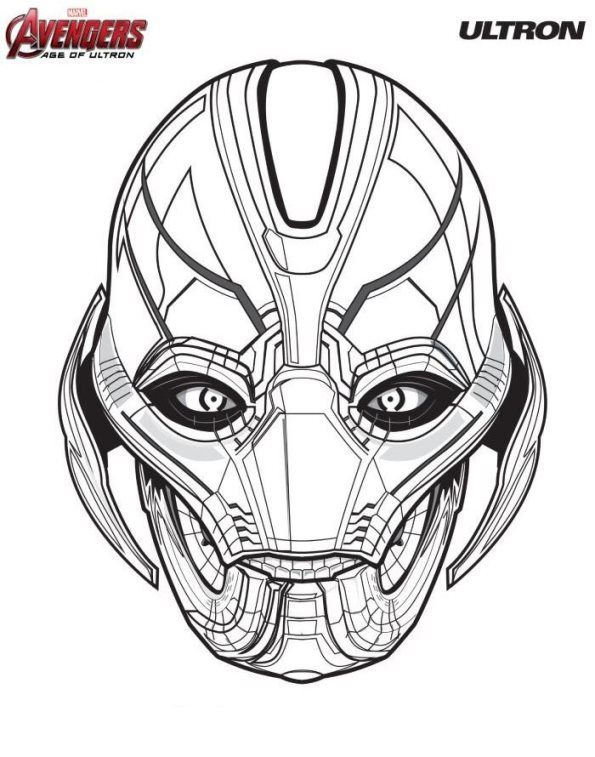 Coloring Page Avengers Ultron