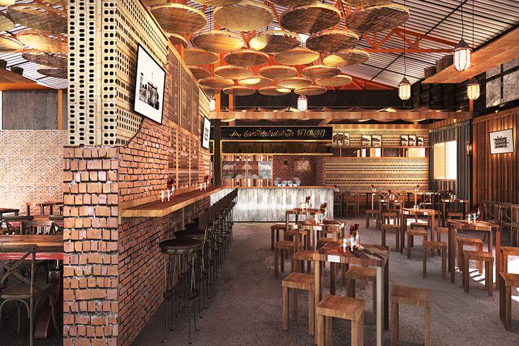 LOFTÉTTEREM   Hogyan lesz egy raktárból étterem? Thaiföldön például így. #loftétterem #építészet