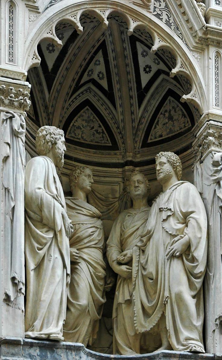 Nanni di banco s four crowned martyr saints 1412 on orsanmichele renaissance artitalian