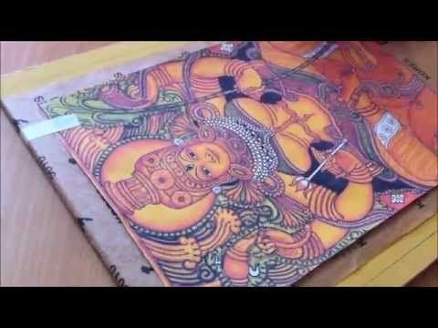 Step 2a - Tracing the Deisgn - Tanjore Painting (kerala mural style) - YouTube