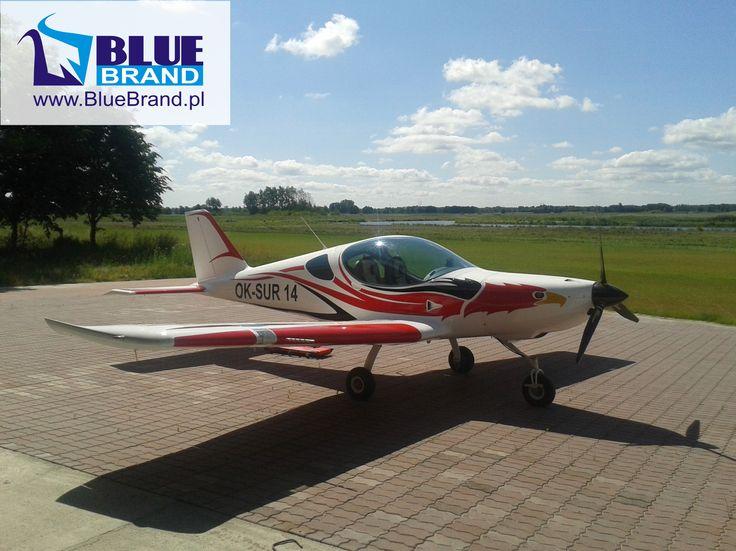 oklejanie samolotu / wrapping plane - projekt i wykonanie www.BlueBrand.pl #BlueBrand #AgencjaReklamowa #reklama