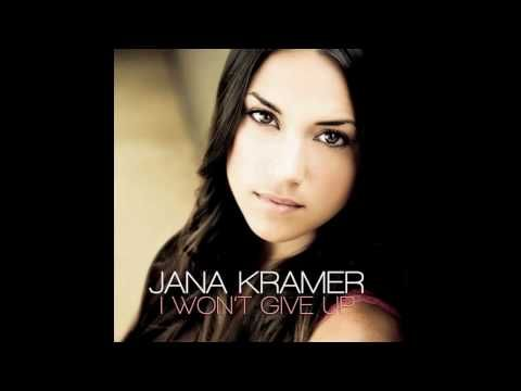 New Single by One Tree Hill's Jana Kramer: I Won't Give Up  [I dont own this music]      LYRICS::::     Don't tell me love is something you wont try again  That's just not true  But baby right now, maybe what you need is a friend  Well I'm here for you    Chorus:  I will be by your side  If ever you fall deep in the dead of the night  When ever you call  And I...