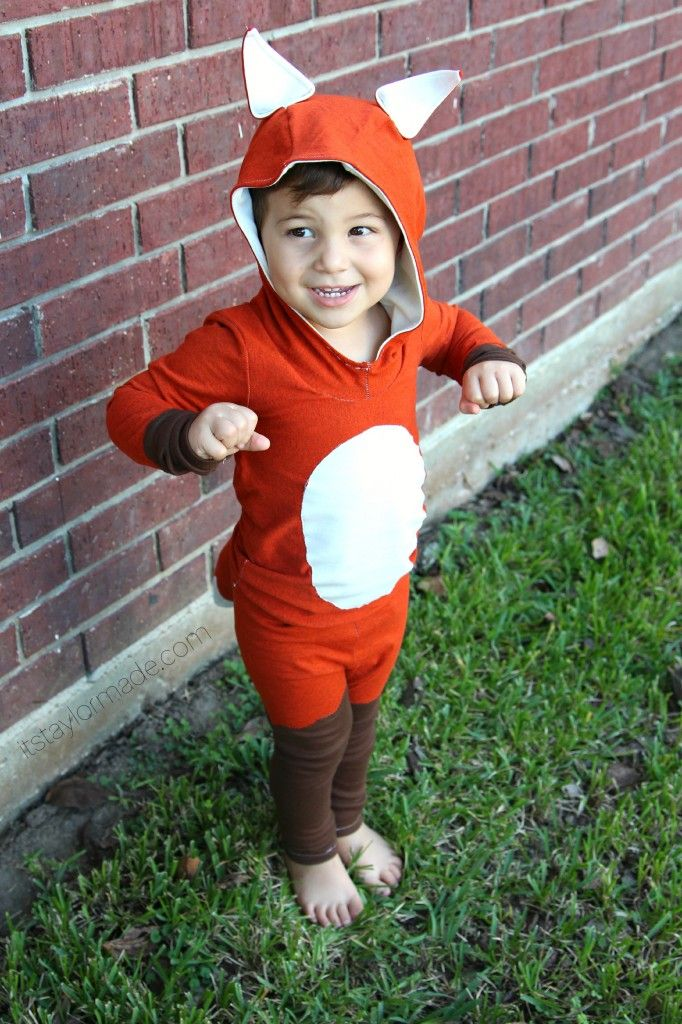 DIY kid fox costume
